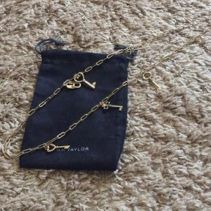 NWOT Ann Taylor necklace with lock and key